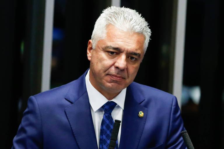 Major Olimpio (PSL/SP) no Senado, em Brasília, em fevereiro deste ano