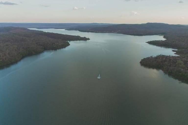 O Açude Caldeirão tem capacidade para 54,6 milhões de m³ de água