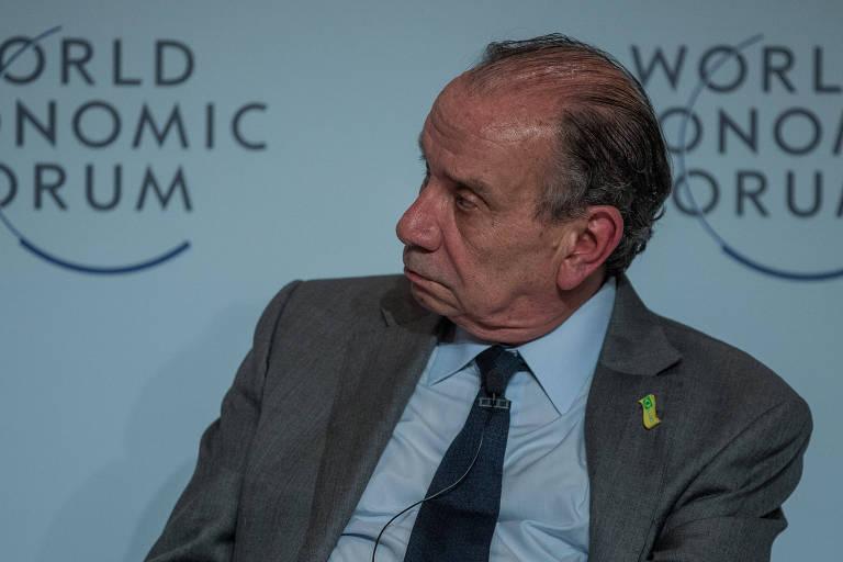 O então chanceler Aloysio Nunes Ferreira durante reunião do Fórum Econômico Mundial em São Paulo