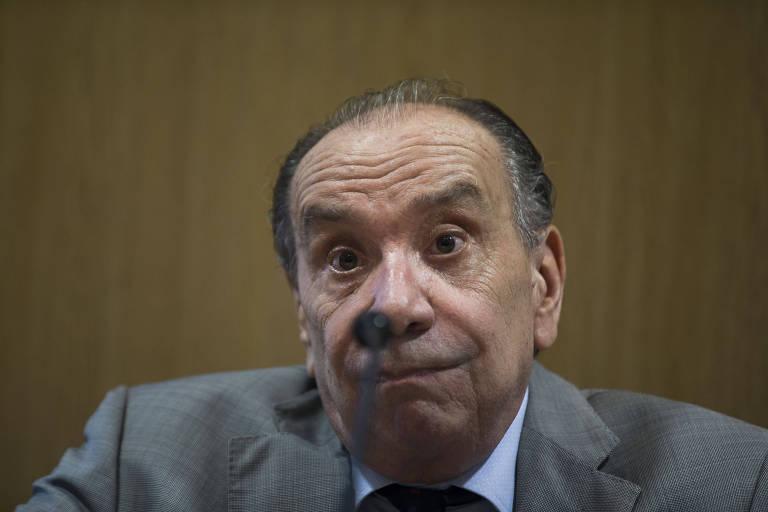 O ex-chanceler Aloysio Nunes (PSDB) durante seminário de política externa nesta terça (19) na Fundação FHC
