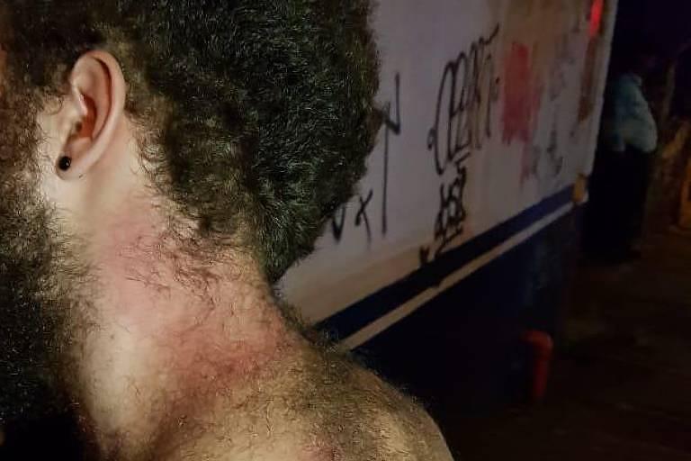 Aluno da PUC agredido por policiais militares em São Paulo