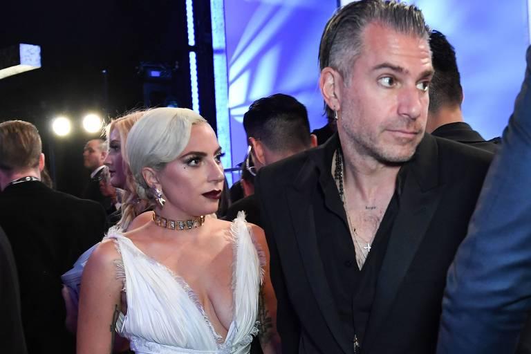 Lady Gaga e o agora ex-noivo Christian Carino