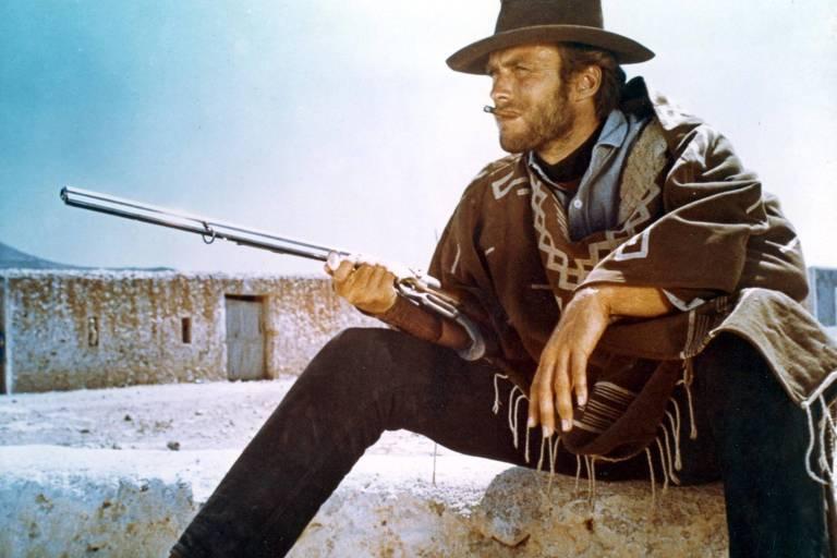 O ator Clint Eastwood em cena de 'Por um Punhado de Dólares' (1964), de Sergio Leone