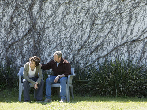 "Cena do filme ""Querido Menino"", de Felix Van Groeningen, com Timothée Chalamet e Steve Carell"