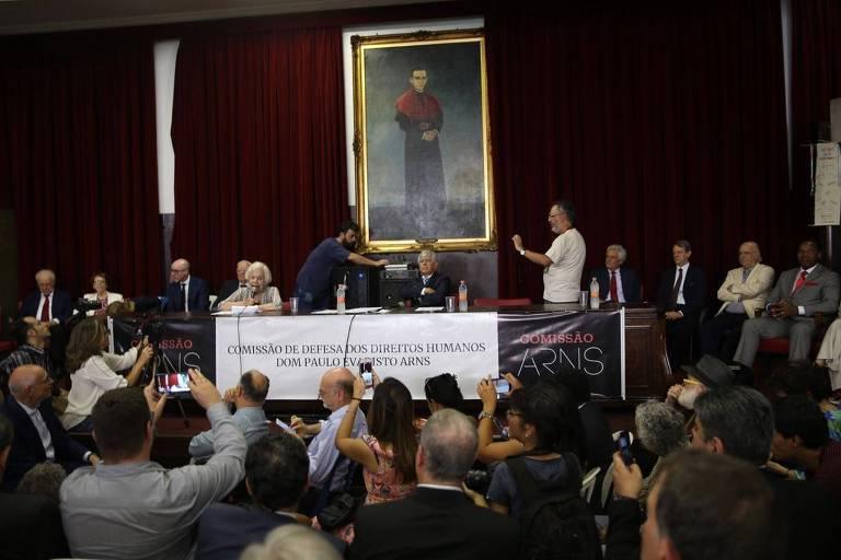 Lançamento da Comissão de Defesa dos Direitos Humanos Dom Paulo Evaristo Arns, na Faculdade de Direito da USP