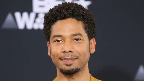 FILE PHOTO: Jussie Smollett poses in the photo room at the 2017 BET Awards in Los Angeles, California, U.S., June 25, 2017.   REUTERS/Danny Moloshok/File Photo ORG XMIT: TOR442