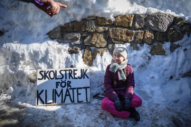 Estudante faz greve pelo clima