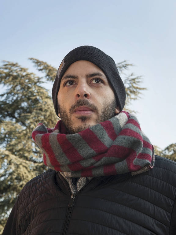 """Giuseppe Consiglio, the youngest of the Verona victims' group, said he wanted the Vatican to """"open its eyes"""" and """"close the schools."""" Consiglio is shown behind his apartment in the suburbs of Verona on Jan. 25, 2019. MUST CREDIT: Photo for The Washington Post by Emanuele Amighetti"""
