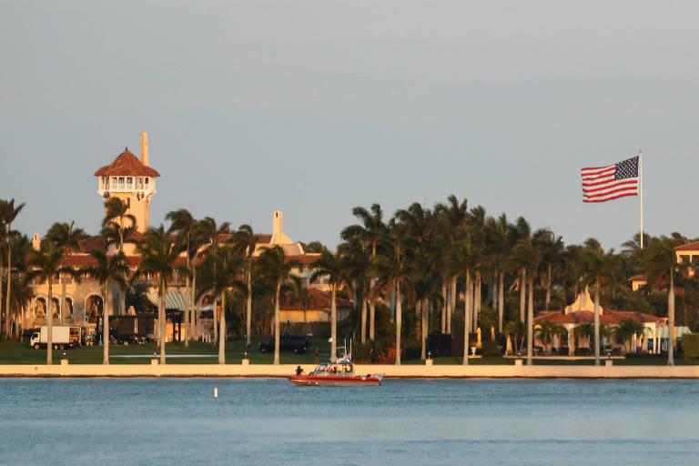 O resort do presidente americano, Donald Trump, em Mar-a-Lago, no estado da Flórida