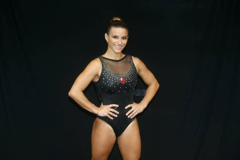 Jade Barbosa, ginasta brasileira que defende o Flamengo