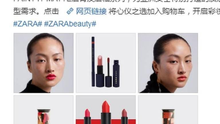 Alguns questionaram em redes sociais de a Zara queria 'enfeiar' o povo chinês apresentando uma modelo sardenta