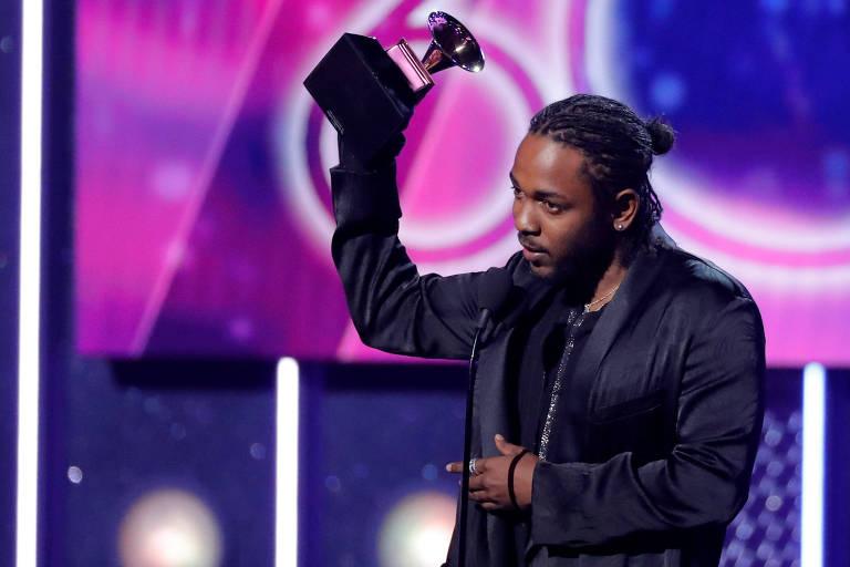 Kendrick Lamar recebe prêmio na edição 2018 do Grammy