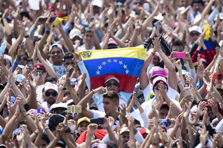 """Começa o concerto """"Venezuela Aid Live"""", organizado para arrecadar dinheiro para a ajuda humanitária"""