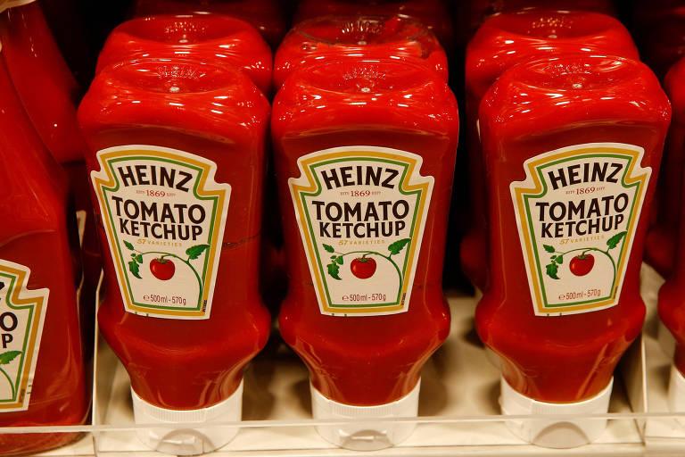 Potes de ketchup da Heinz