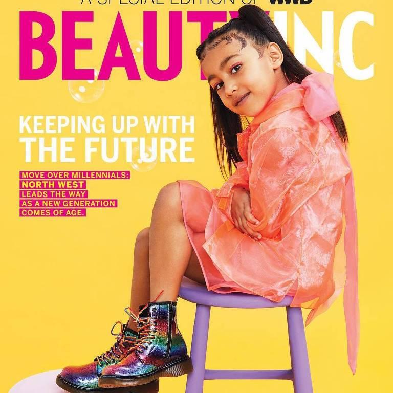 Filha de Kim Kardashian estrela a sua primeira capa de revista aos cinco anos