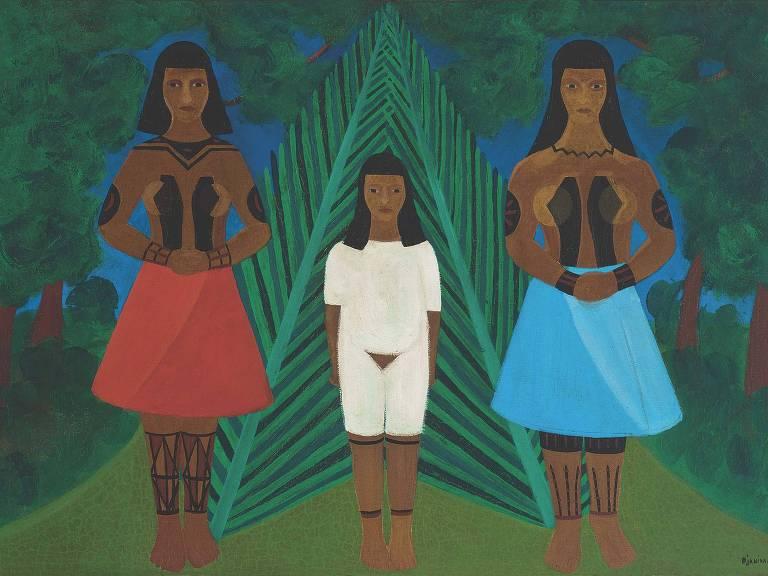 pintura de mulheres indígenas