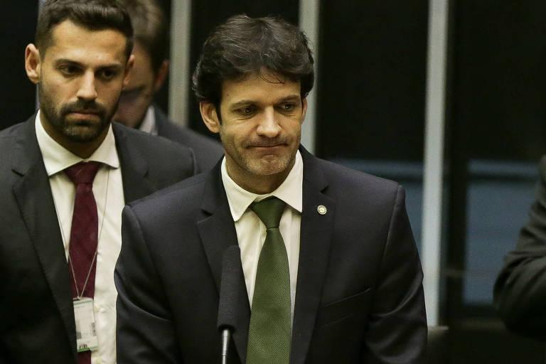 O ministro do Turismo, Marcelo Álvaro Antônio (PSL-MG), no plenário da Câmara dos Deputados