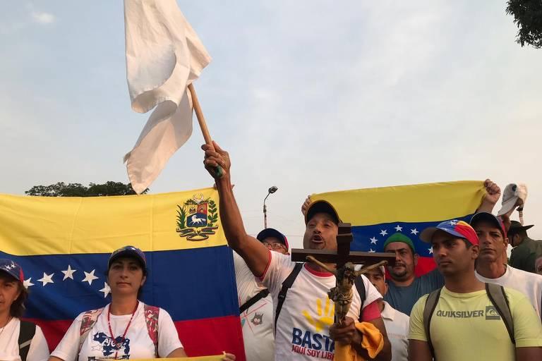 Protestos no 'Dia D' na Venezuela