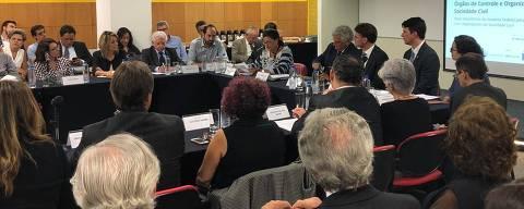 São Paulo, 21.fev.2019. Reunião de representantes de ONGs com o secretário de Articulação Social da Secretaria de Governo, Iury Revoredo Ribeiro.