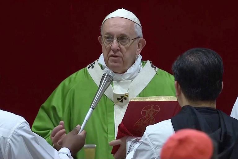 Papa Francisco, durante o último dia da conferência sobre abuso sexual de crianças na igreja