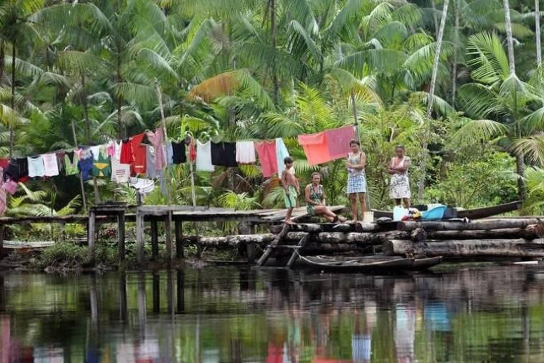 Rio Laguna, na comunidade São José, em Melgaço