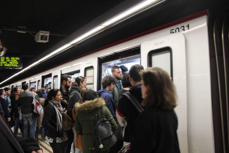 Estação Verdaguer no metrô de Barcelona