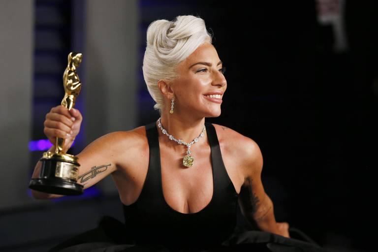 Lady Gaga levou o Oscar por melhor canção original