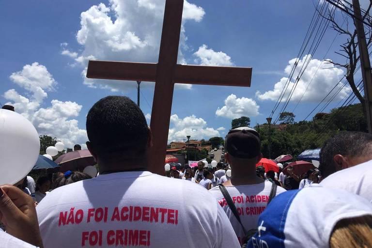 Ato em memória às vítimas da tragédia de Brumadinho