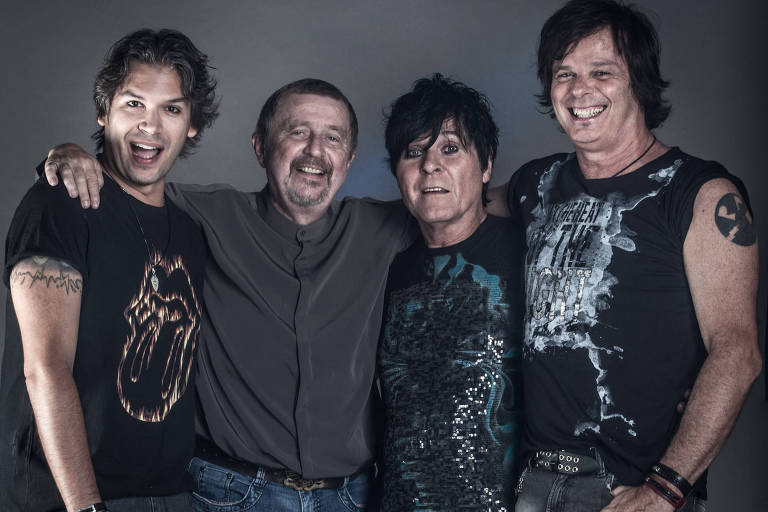 Banda RPM: da esq. para a dir.: Dioy Pallone, Luiz Schiavon, Paulo Pagni e Fernando Deluqui