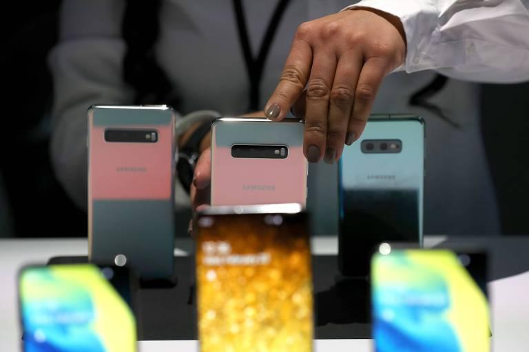 Linha Galaxy S10 apresentada em evento da Samsung em São Francisco, na Califórnia, no dia 20 de fevereiro
