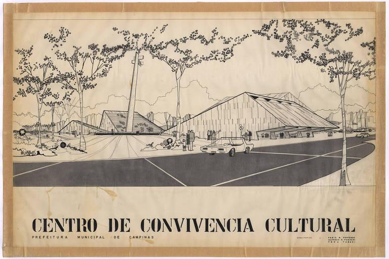 Centro de Convivência Cultural em Campinas, no interior paulista, projeto do arquiteto Fabio Penteado