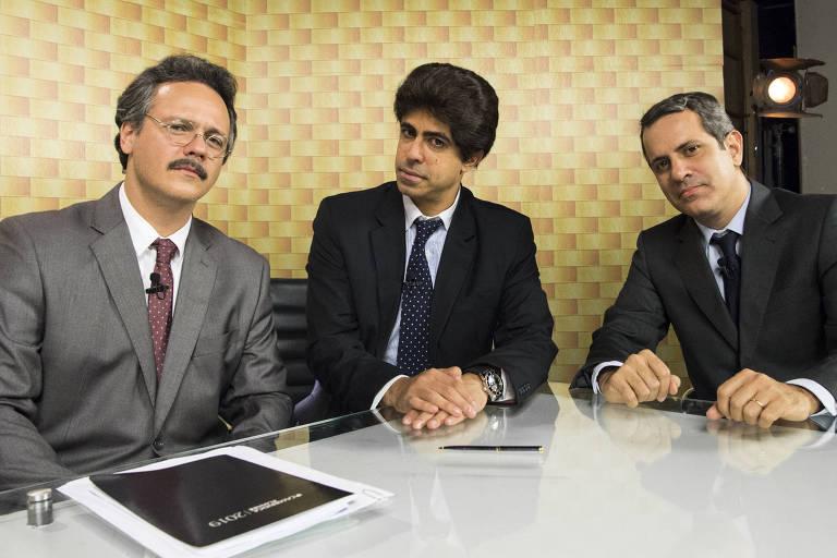 Magnata Conection' : Âncora ( Marcius Melhem ) e comentaristas ( Mauricio Rizzo e Danton Mello ) do Magnata Conection falam sobre problemas do Brasil