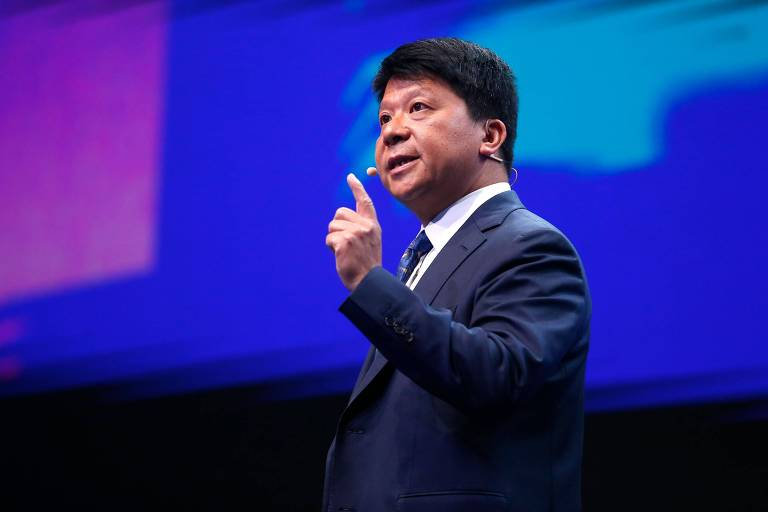 Presidente do conselho da Huawei, Guo Ping,na abertura do segundo dia de Mobile World Congress