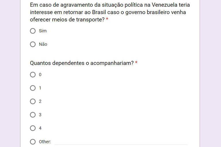 Alerta feito a brasileiros residentes na Venezuela e publicado no site do Itamaraty