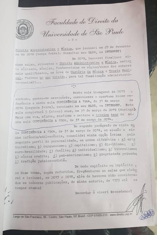 Texto de do professor Eduardo Lobo Botelho Gualazzi