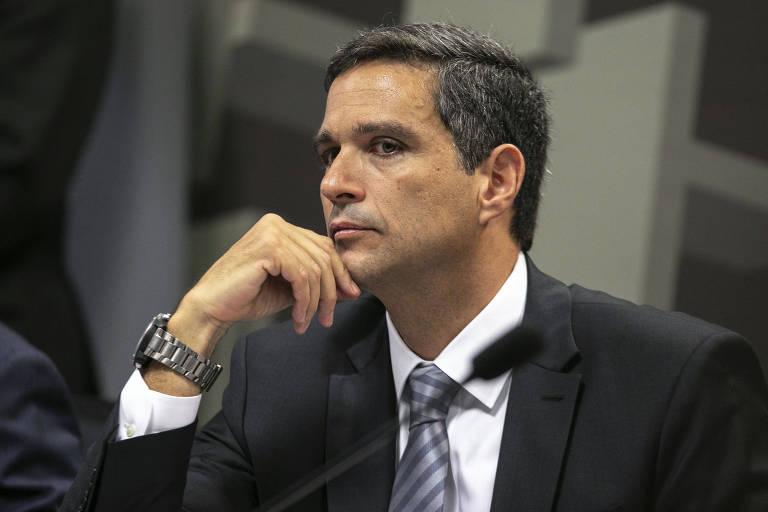 Roberto Campos Neto durante sabatina na Comissão de Assuntos Econômicos do Senado