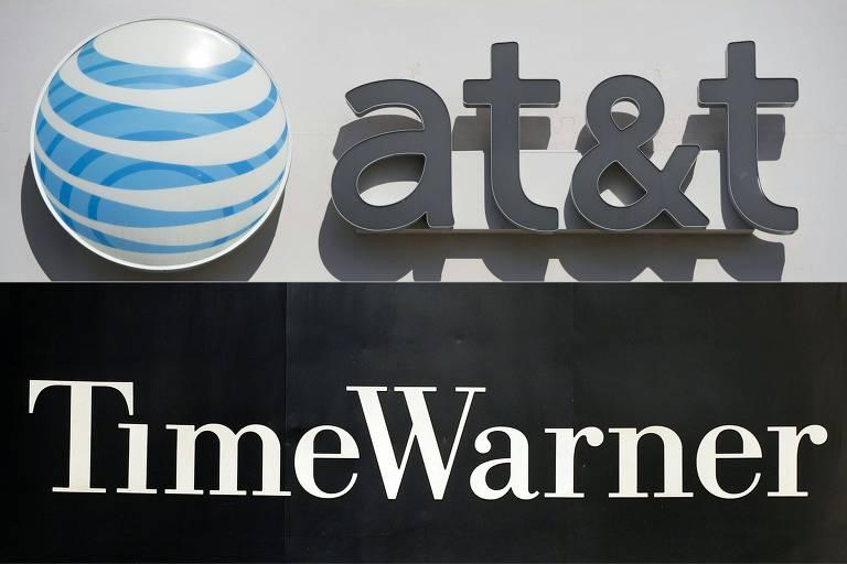Combinação de logotipos da AT&T e da Time Warner