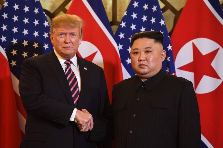 Kim Jong Un e Donald Trump se reúnem no Vietnã