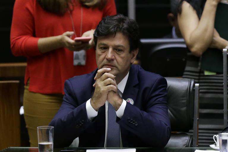Ministro da Saúde, Luiz Henrique Mandetta, em sessão sobre doenças raras na Câmara dos Deputados