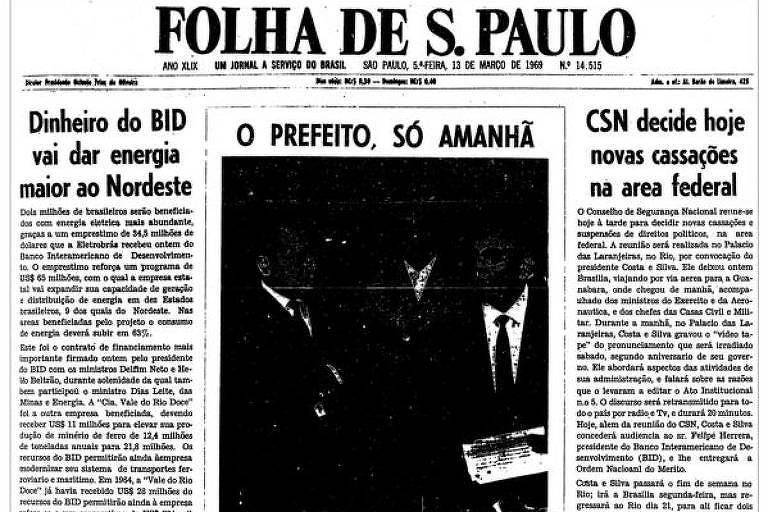 1969: Apurações indicam que Paulo Maluf será o novo prefeito de São Paulo
