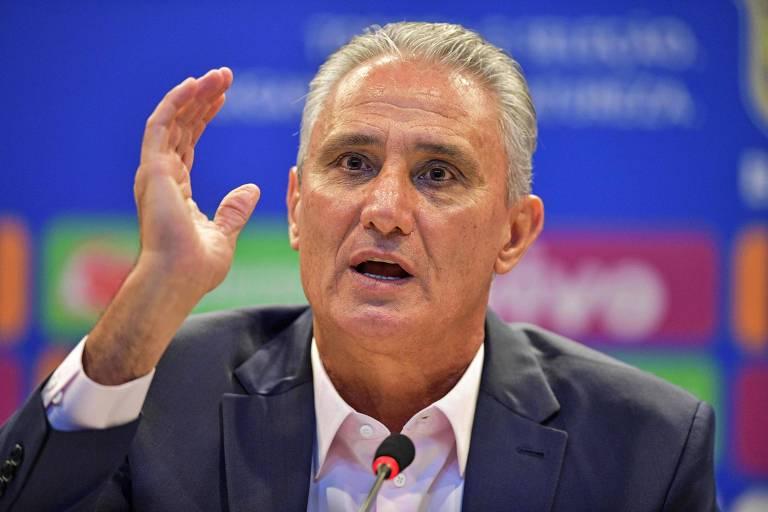 Tite durante a convocação da seleção brasileira nesta quinta (28)