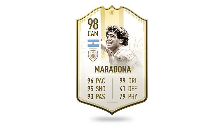 Cartas dos ícones do jogo FIFA 19