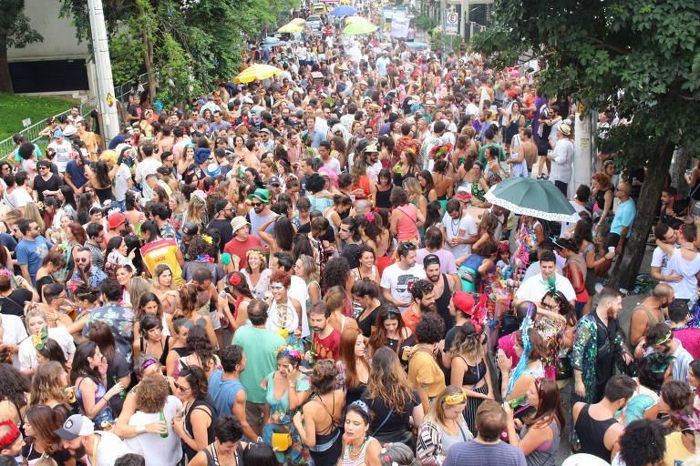 Bloco do Apego, que desfila nas proximidades do Largo da Batata, e este ano começa a fazer Carnaval Lixo Zero. Foto: Divulgação.