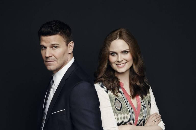 """David Boreanaz e Emily Deschanel protagonizam a última temporada da série """"Bones"""""""