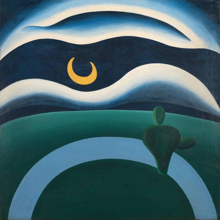"""Reprodução de """"A Lua"""", obra de Tarsila do Amaral, adquirida pelo MoMA"""