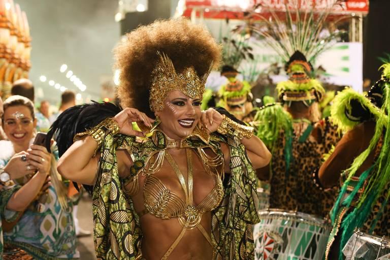 Primeira noite dos desfiles das escolas de samba de SP