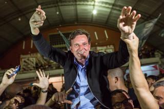 Eleições 2016 - Marcelo Crivella comemora eleição no Rio de Janeiro