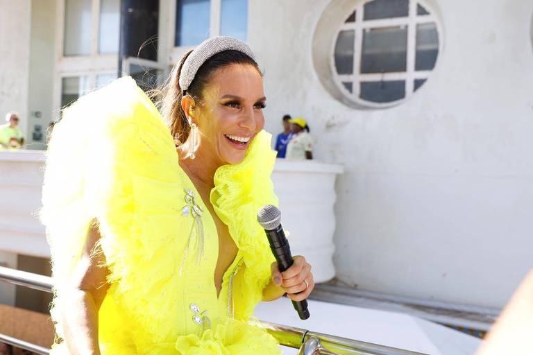 A cantora Ivete Sangalo retorna ao Carnaval de Salvador