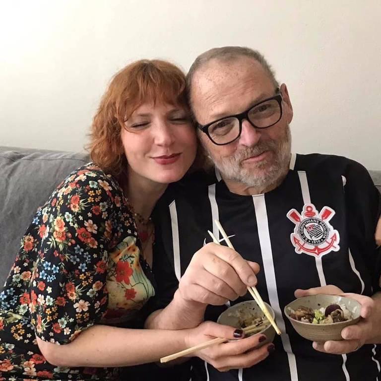 Artur Timerman com a filha Natália, em foto de fevereiro de 2019