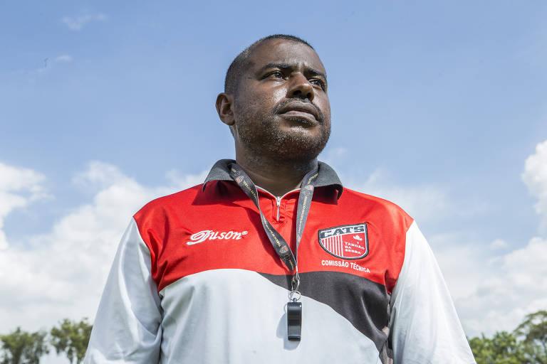 O ex-lateral Baiano, técnico demitido do Taboão da Serra, equipe que disputa a Série A3, a terceira divisão do Campeonato Paulista